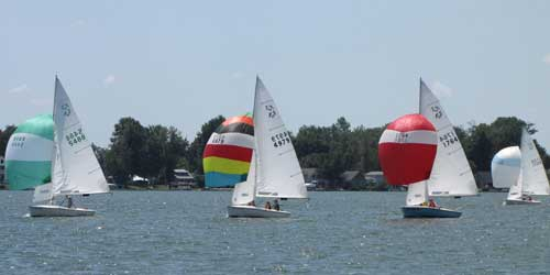 Flying Scot Spinnakers on Crystal Lake MI